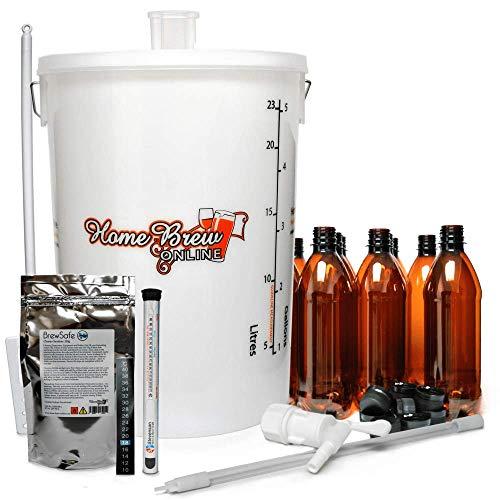 Home Brew Online Standard Beer Starter Equipment Pack With Bottles