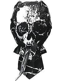 Rocker Bandana Cap - Totenkopf mit Drähten