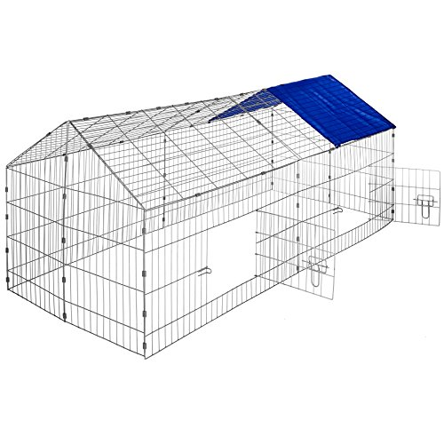 Gallinero Azul 180x75x75cm