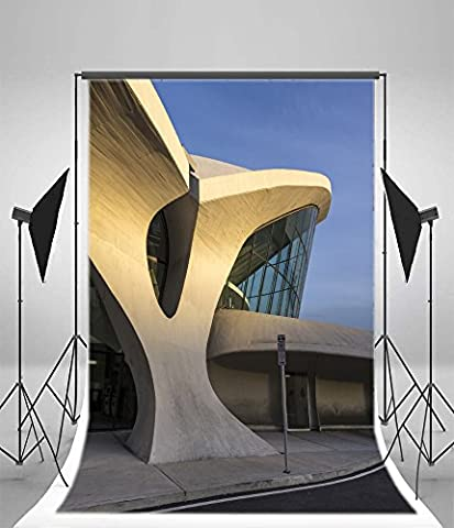 Aaloolaa Photographie arrière-plans 1x 1.5m Vinyle toiles de fond Ciel Bleu artistique moderne au musée Municipal de gym Motif architecture Majestic Fantasy Sainte vue séance photo Video Studio