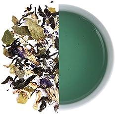 Blue Lagoon-Lemongrass Tea with Butterfly Pea Flower & Lime, Refreshing iced Tea, Caffeine Free, Summer Tea, Butterfly Pea Flower, Citrus and Zesty iced Brew, 25 Pyramid teabags