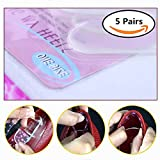 #5: Climberty Gel Heel Pads Shoe Heel Gel Liners Grips to Prevent Back Heel Pain and Improve Loose Shoe Fit, Premium Self-Adhesive, Clear(Pack of 5)