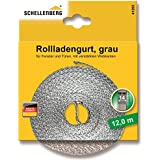 Schellenberg 41202 Sangle de volet roulant Gris 14 mm 12 m