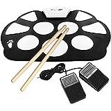 Emperor of Gadgets® Portable Kit Silicon pliable électronique Roll Up Drum Pad avec Stick et câble USB