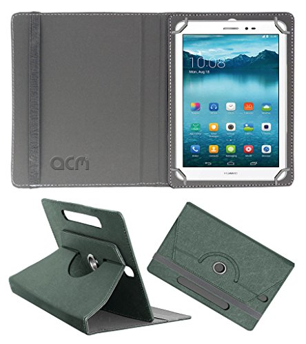 Acm Designer Rotating Leather Flip Case for Huawei Honor T1 Cover Stand Grey  available at amazon for Rs.189