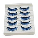 HENGSONG 5 Paar Makeup Künstliche 3D Natürlich Wimpern Falsche Wimpern Verlängerung mit Strass