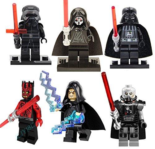 Preisvergleich Produktbild tashred32 Sith Lords Kylo Ren Darth Vader Darth Maul Darth Malgus Darth Nihilus Darth Sidious Rogue One Compatabilli Minifigures Mini-Figs
