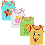#3: Luke and Lilly Baby Boys Cotton Sleeveless Tshirt - Pack of 4