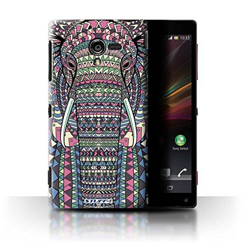 Stuff4 Hülle / Hülle für Sony Xperia ZL LTE / Elefant-Farbe Muster / Aztec Tier Muster Kollektion