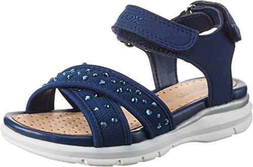 Geox Mädchen J Sandal Sukie Girl C Offene Keilabsatz, Blau (NAVYC4002), 33 EU