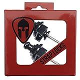 Pair (x2) of Black Guitar Strap Locks