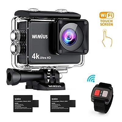 WiMiUS L1 Action Cam 4K Actioncam WiFi Action Kamera 20MP HD Action Camera 170° Weitwinkel 2 Zoll 30M Wasserdichte Sport Camera mit 2 Akkus
