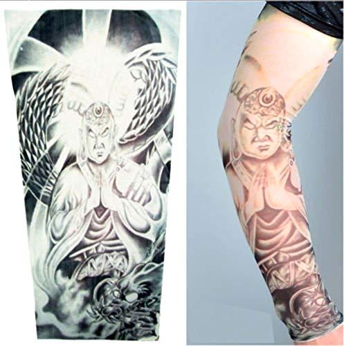 Kiralove manicotto tattoo - manica - tatuaggio finto - immagine - guerriero - buddista - drago - serpente - tatoo - mezza manica - tribale - idea regalo originale - w75
