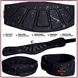 """6"""" INCH Weightlifting Belt-Contoured and Ultra-Light Foam Core- Comfort Stabilizing Back Support–Best for Crossfit-Olympic Lifting-Powerlifting-Squat-Deadlift-Gym Workouts-Injury Prevention"""