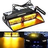 AMBOTHER Lampe Urgent 160-LEDs Voiture Intérieur Lumière de Secours Risque Détresse Feu Enforcement Advertisement Stroboscope Flash 18 Modes Ambre