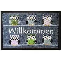 Trendprodukteshop Door Mat with Owl Design, Foot Mat