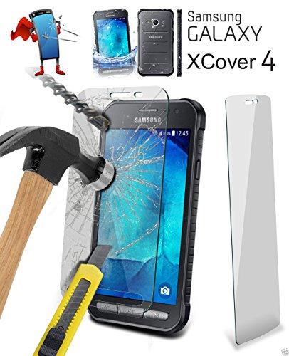 HandySchutzGlas Panzerglas für Samsung XCover 4 Härtegrad 9H Displayschutz aus echtem gehärtetem Glas für Samsung Galaxy XCover 4 (G390F) (Hinweis 4 Fall Mit Screen Protector)