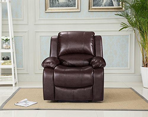 Lovesofas Valencia 3 2 1 Seater Bonded Leather Recliner Sofa Suites – Brown (1)