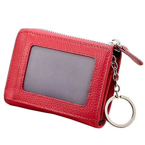 Diva Clutch Wallet (lecxci ,  Münzbörse Rot Rot (Rose Red) 4.33 * 0.98 * 3.14 inch)