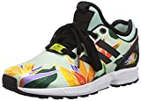 adidas ZX Flux NPS, Unisex-Erwachsene Sneakers, Grün (Blush Green/Core Black/Yellow), 44 EU