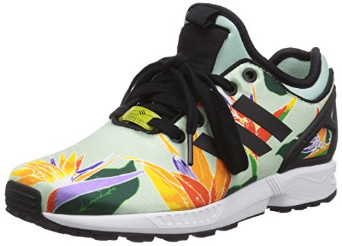 adidas - ZX Flux NPS, Sneakers, unisex Verde (Blush Green S15-St/Core Black/Yellow)