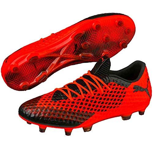 Puma Future 2.1netfit Low FG/AG Scarpe da calcio da uomo, Uomo, 105027-01, nero/arancione, 8 UK - 42.0 EU