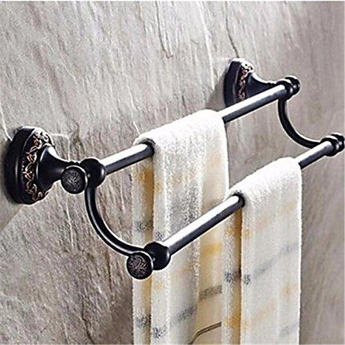 GS~LY Handtuchhalter Öl eingerieben Bronze Wandmontage Messing antik, D