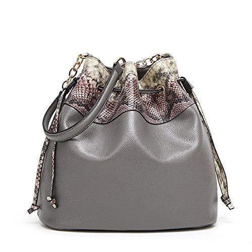 Mefly Nuova Moda Inverno Borsetta Bag Borsa A Tracolla Messenger Bag Verde gray