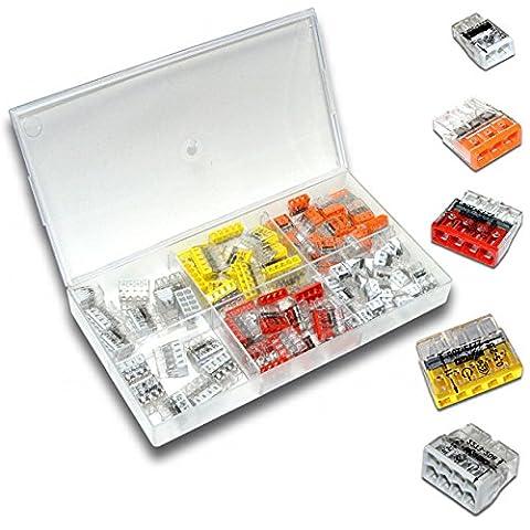WAGO 90 Stück | 2273 Serie Set Sortiment 20x 2273-202 | 20x 2273-203 | 20x 2273-204 | 15x 2273-205 | 15x 2273-208 | in praktischer