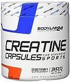 Bodylab24 Creatin Kapseln, hochdosierte Kreatin Monohydrat Kapseln, höchste Reinheit für Muskelwachstum, Premium Qualität, 300 Kapseln