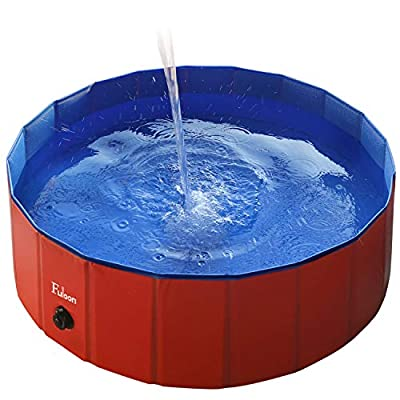 Fuloon Foldable Dog Paddling Pool Puppy Cats Swimming Bathing Tub Pet Children Kid Ball Water Ponds from Fuloon