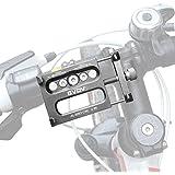 """GVDV Soporte Movil Bicicleta de Aluminio, Soporte telefono para Bici, Moto y GPS, 360° Rotación para 3.5"""" hasta 6.2"""", Plata"""
