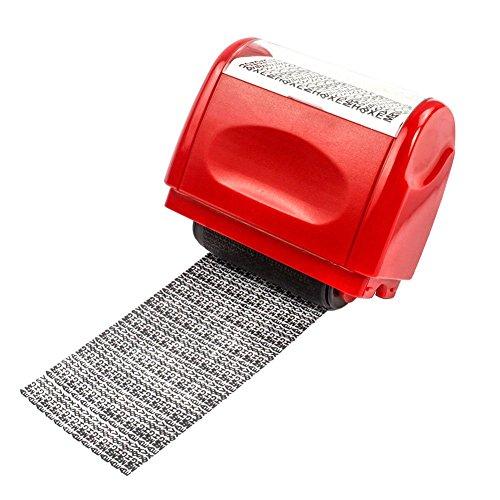 Identität Diebstahl Schutz Privatsphäre Vertraulichkeit Roller Sicherheit Stempel für ID Guard Diebstahlschutz Sichtschutz Sicherheit rot (Sicherheit Stempel-roller)