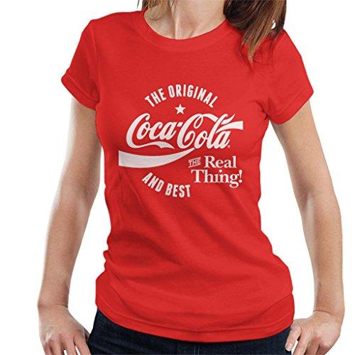 Coca Cola Original and Best White Text Women's T-Shirt