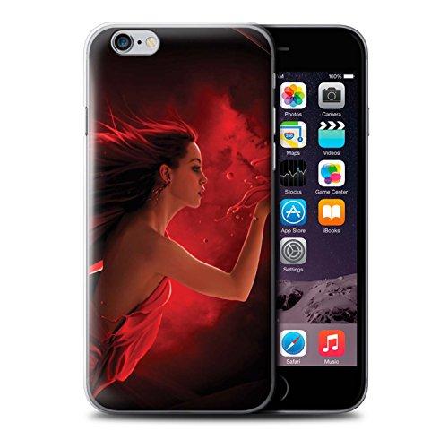 Officiel Elena Dudina Coque / Etui pour Apple iPhone 6S+/Plus / Éclaboussure Rouge Design / Un avec la Nature Collection Éclaboussure Rouge