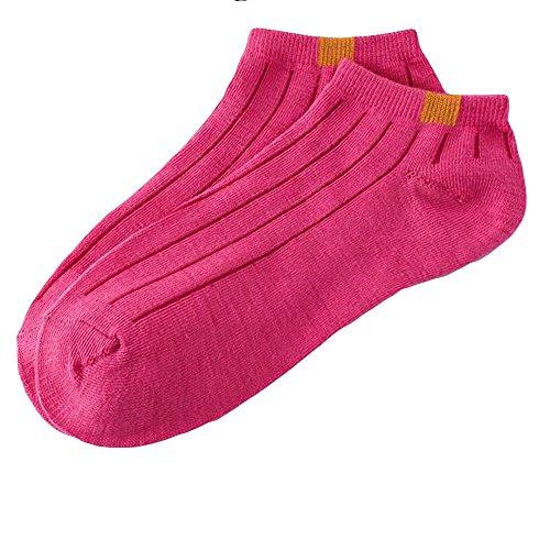 YWLINK 1 Paar Damen MäNner GemüTlich Baumwollsocke Streifen Socken Kurze SöCkchen Unisex Volltonfarbe Einfach