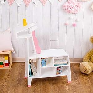 Teamson Kids- Unicorn Estantería de Juguete, Color Blanco/Rosa (TDF-00002)