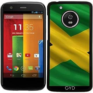 DesignedByIndependentArtists Case for Lenovo (Motorola) Moto G5 - Flag of Jamaica by Carsten Reisinger