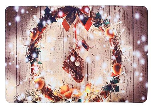 Preisvergleich Produktbild Lukis Antirutschmatte 45x120cm Fußabstreifer für Innen- und Außen-Bereich Weihnachten Sauberlaufmatte Schmutzfangmatte Nikolausstiefel