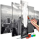 murando - Malen nach Zahlen New York 100x50cm 5 TLG Malset DIY n-A-0631-d-m