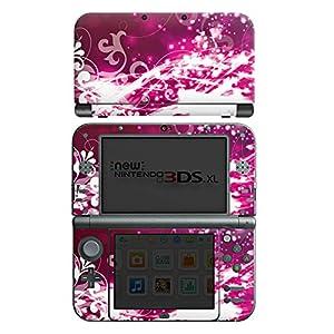 DeinDesign Nintendo New 3DS XL Case Skin Sticker aus Vinyl-Folie Aufkleber Abstrakt Glitzer Pink