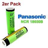 Panasonic NCR18650B Batterie avec 3400mAh 3.6V–Idéal pour SubOHM Dampfer cigarette électronique Power Tools Flat Top 2 Stück