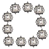 MagiDeal Quadrato del Annata Flatback Abbellimenti Bottoni del Rhinstone Articoli di Merceria per Cucire