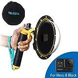 AFAITH GoPro Hero8 Black Gopro Dome Port, Custodia impermeabile 6 pollici con galleggiante Impugnatura compatibile con GoPro Hero 8 Black