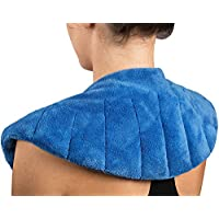 NatraCure Microwaveable Moist Heat Wrap (w/Clay Beads) - (Hot Therapy Pack and Heating Pain Relief Pad for Neck, Shoulders, Body)