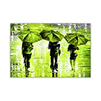 Three Umbrellas By Leonid Afremov Oil Painting Re-Print Abstract Poster Art Decoration