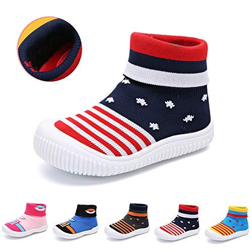 3ba9ce6ed Bebé Niños Niñas Niños Zapatos Anti Deslizante Zapatillas Primera ...