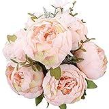 StarLifey Artificial peonía 1 ramo 8 cabezas Flores de seda para decoración del hogar o bodas
