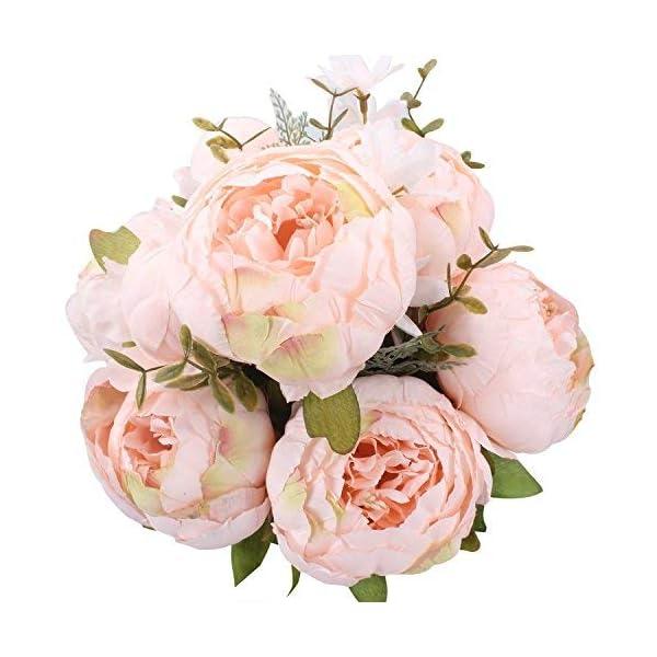 StarLifey Flores Artificiales Decoraci¨®n, Seda Ramos Boda, Humedad Ramo Flores Peonias, Ramo de Flores Naturales para…