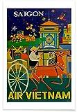 JUNIQE® Reise Vintage Poster 40x60cm - Design